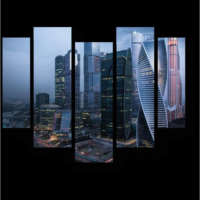 Модульная картина Московские высотки