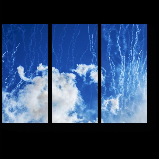 Модульная картина Летая в облаках