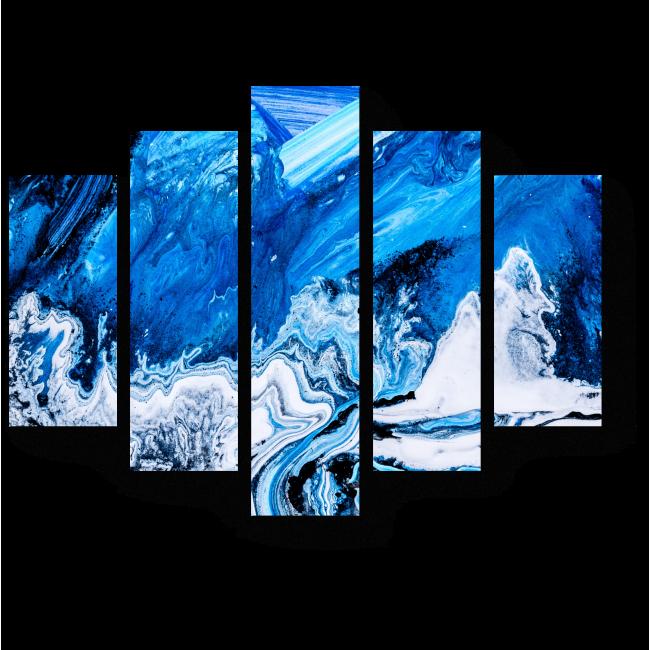 Модульная картина Волны цвета