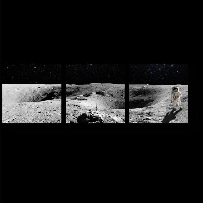 Модульная картина Пустынная Луна
