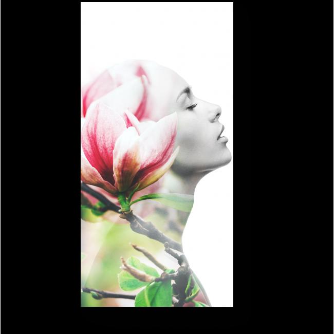Модульная картина Девушка-цветок