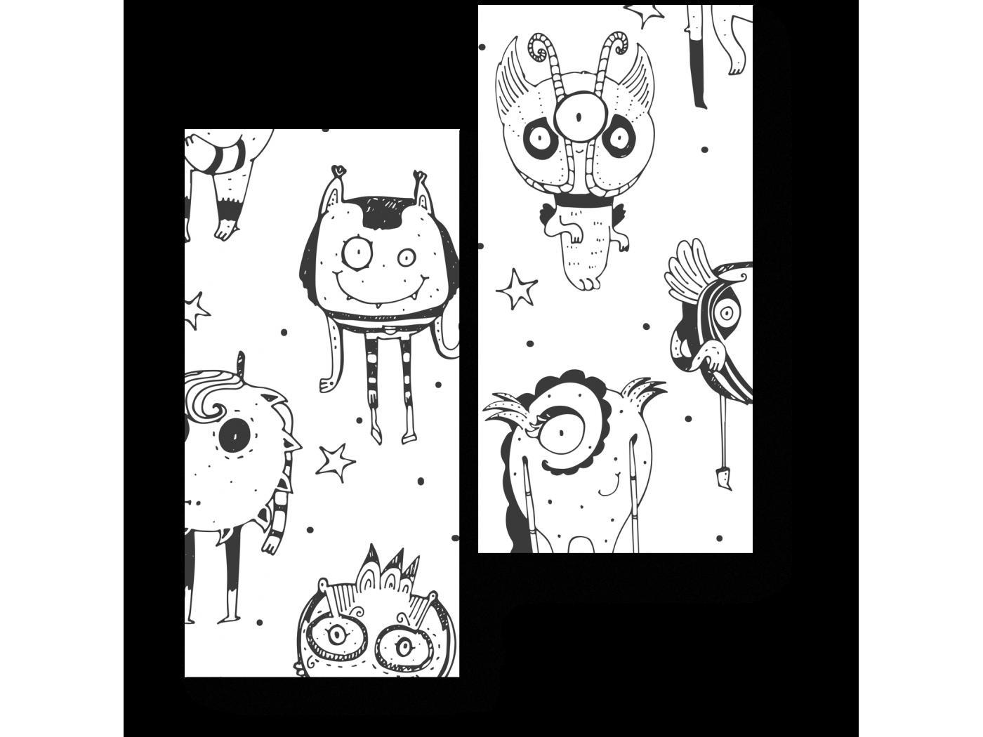 Модульная картина Дружелюбные чудики (40x50) фото