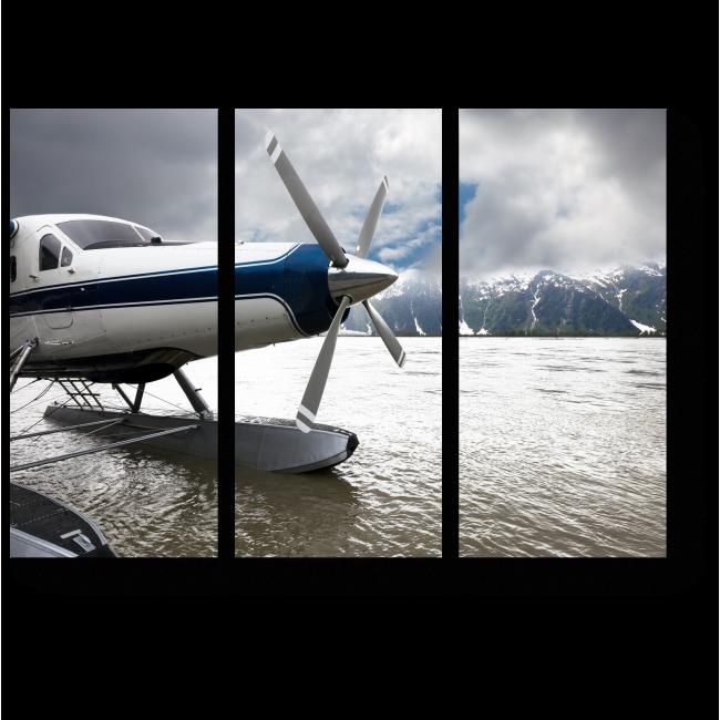 Модульная картина Гидросамолет на Аляске