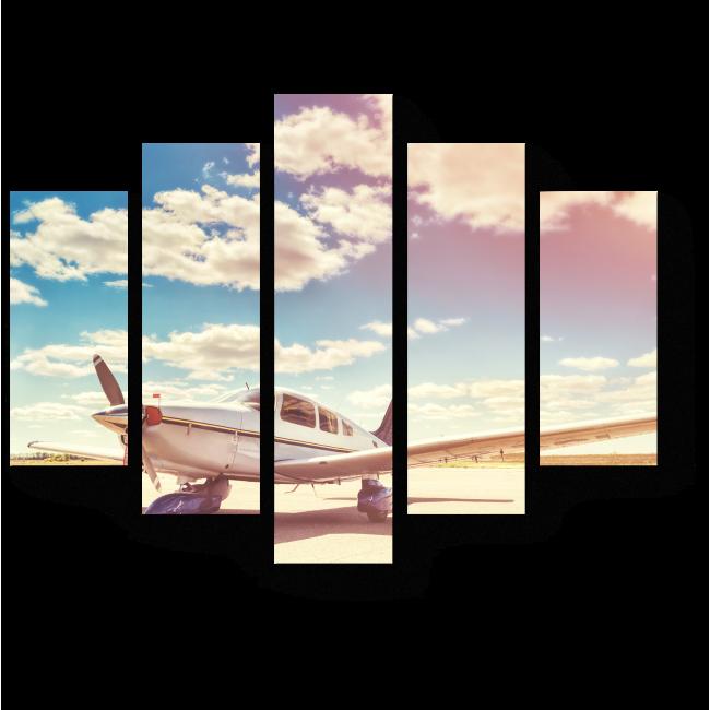 Модульная картина В аэропорту Солнечный день