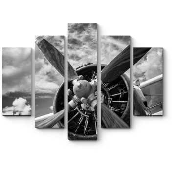 Модульная картина Старый самолет