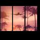 Над тропическими пальмами