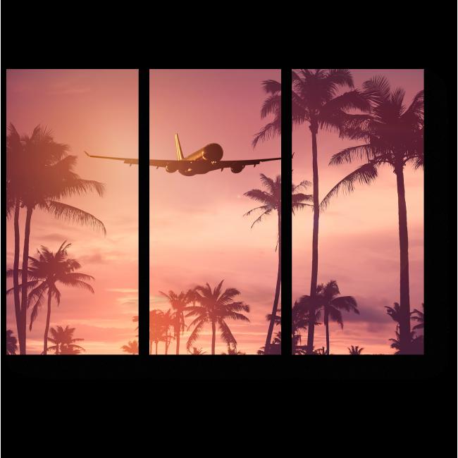 Модульная картина Над тропическими пальмами