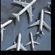 Аэрофотосъемка нескольких самолетов