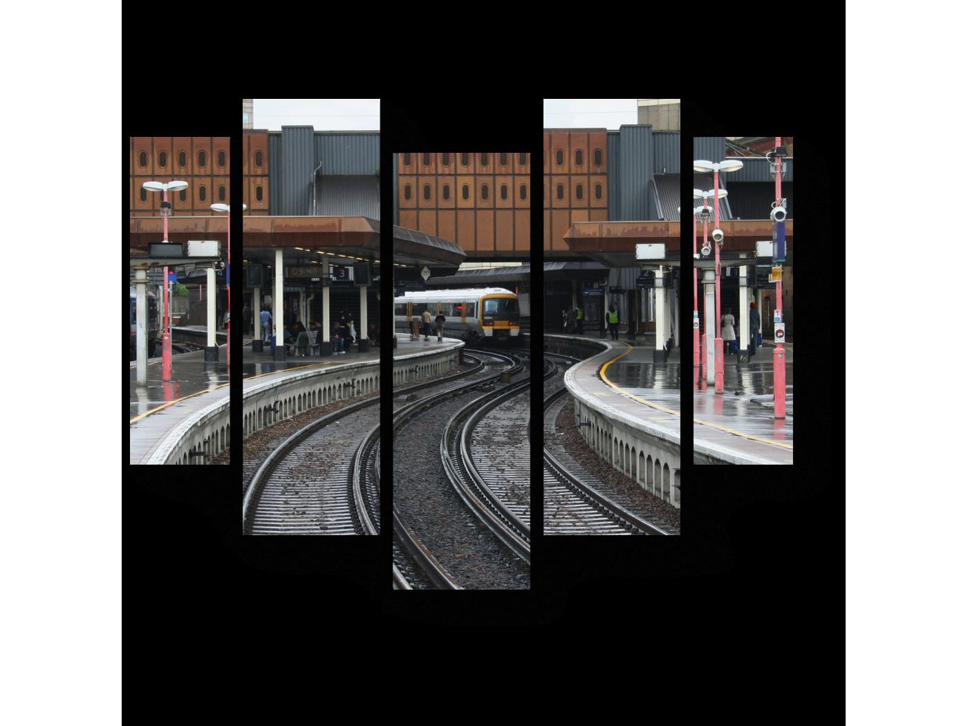 Модульная картина Платформы Лондонского моста (101x82) фото
