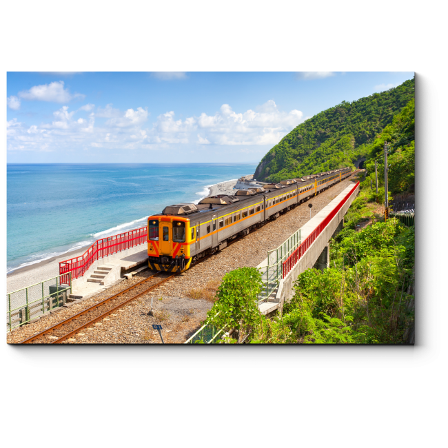 Модульная картина Поезд приближается