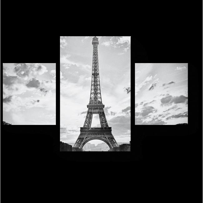 Модульная картина Черно-белый Париж