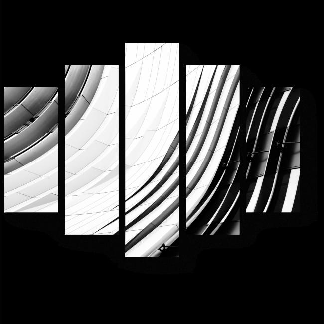 Модульная картина Плавные линии