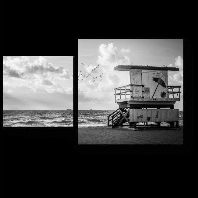 Модульная картина На берегу моря