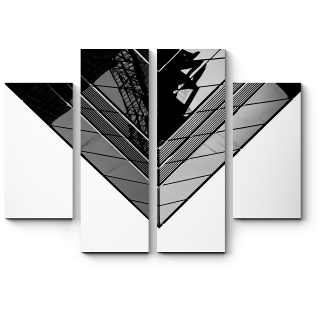 Модульная картина Идеальная симметрия мегаполиса