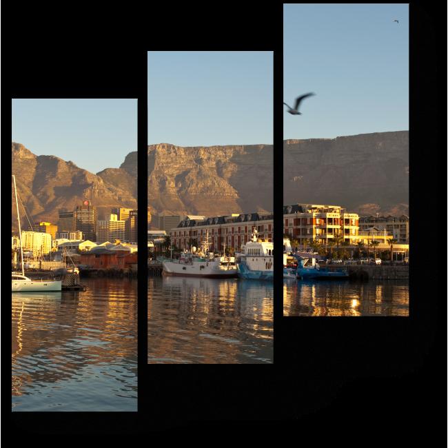 Модульная картина Солнечный день в Кейптауне
