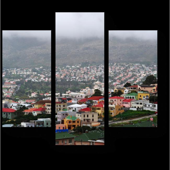 Модульная картина Вид с высоты птичьего полета на Кейптаун