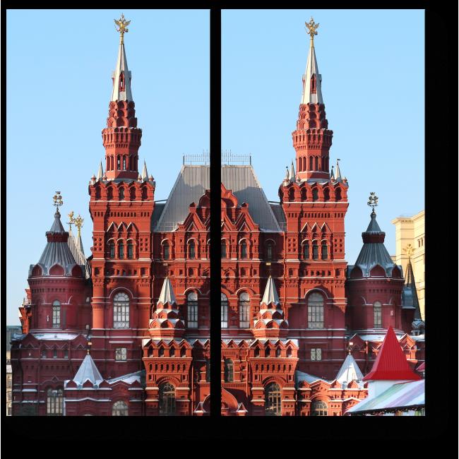 Модульная картина Великолепная архитектура Москвы