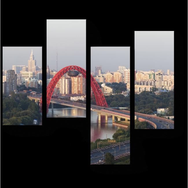 Модульная картина Городской пейзаж Москвы