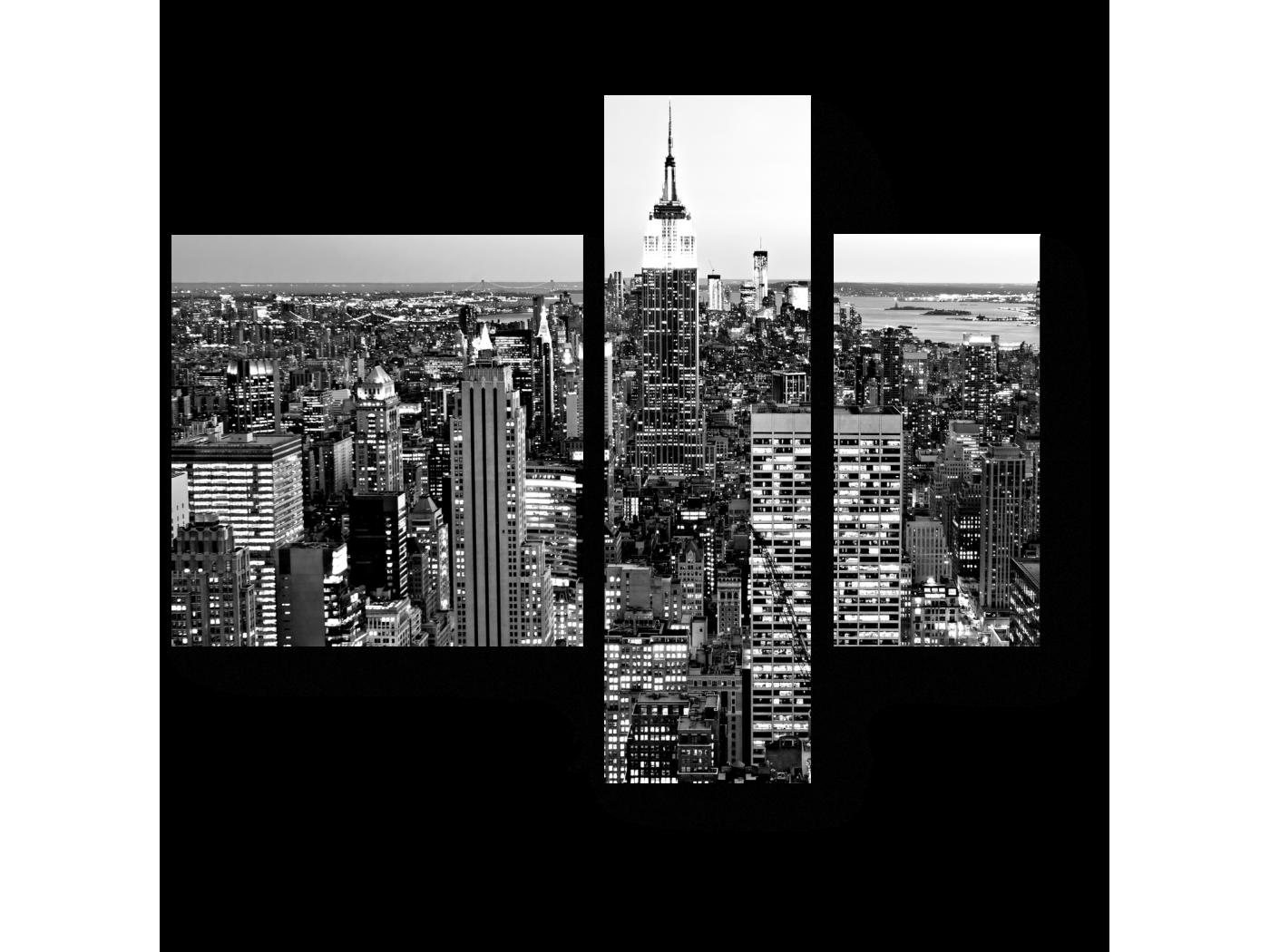 Модульная картина Ночной город (80x66) фото