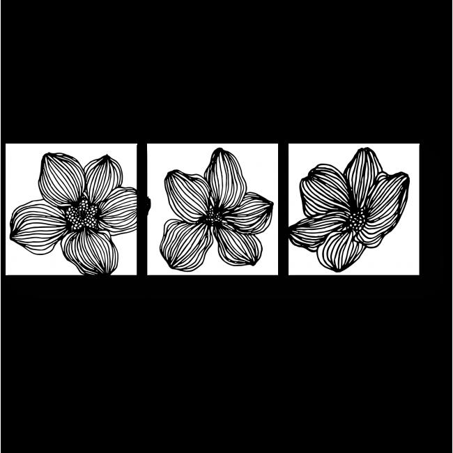Модульная картина Цветочная эволюция