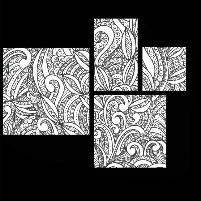 Модульная картина Переплетение линий и форм