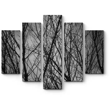 Модульная картина Сквозь ветви