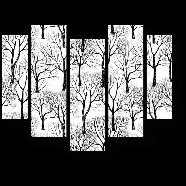 Модульная картина Графичный лес