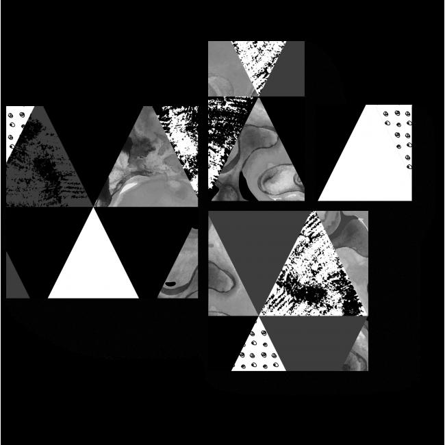 Модульная картина Узор из треугольников