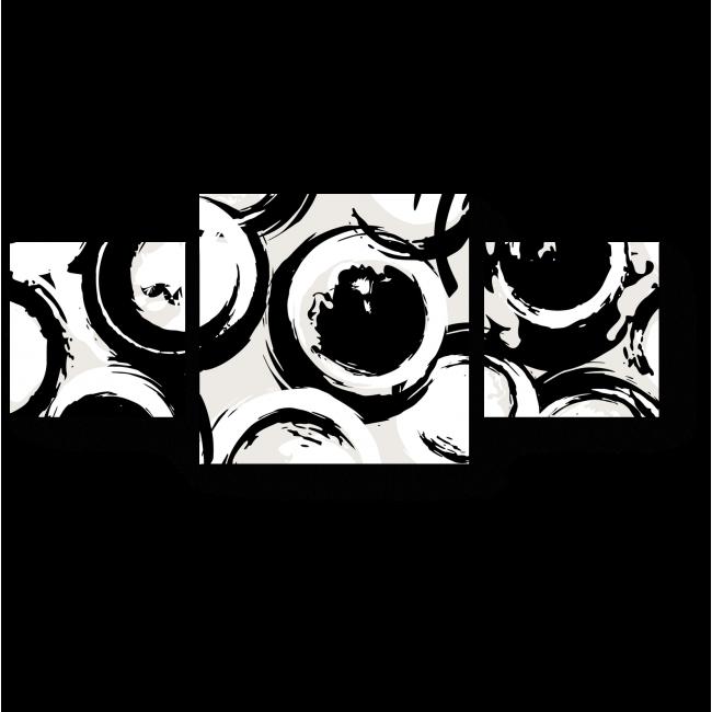 Модульная картина Белое в черный горошек