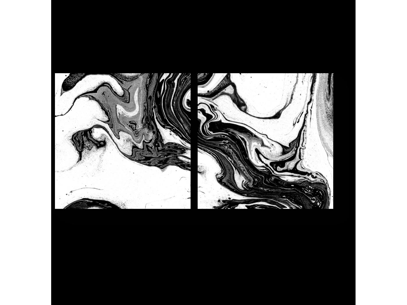 Модульная картина Искусное смешение (40x20) фото