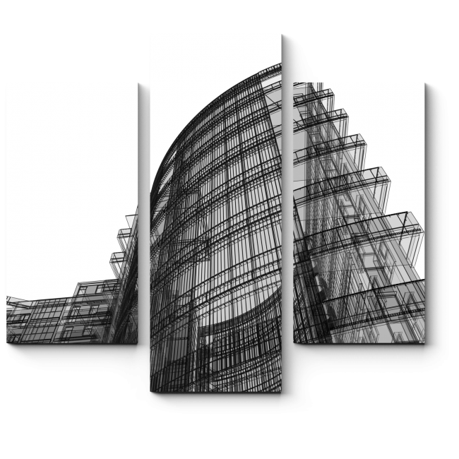 Модульная картина Абстрактная архитектура