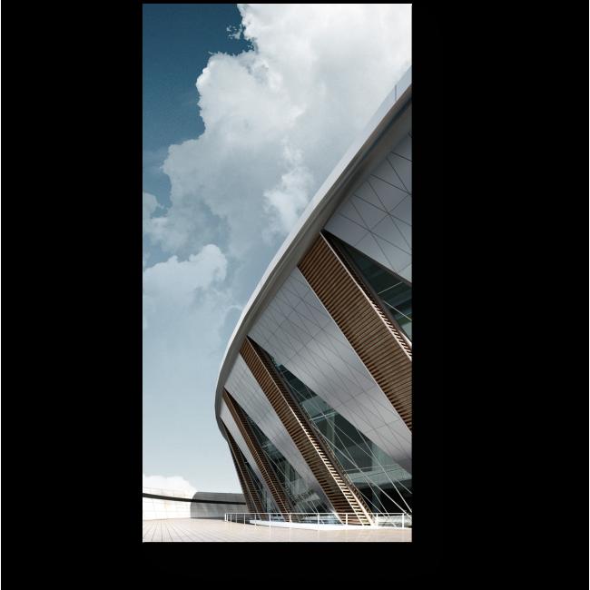 Модульная картина Современная архитектура
