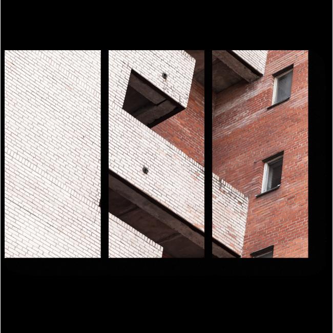 Модульная картина Абстракция урбана