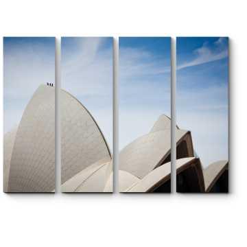 Модульная картина Здание-лотос