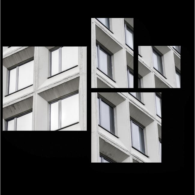 Модульная картина Монохромный фасад