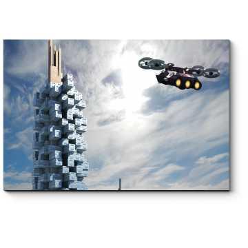 Модульная картина Фантастический город