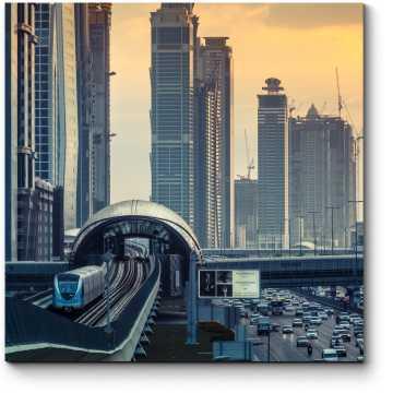 Модульная картина Метро Дубая