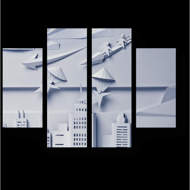 Модульная картина Бумажный город