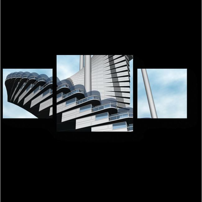 Модульная картина Башни-лестницы