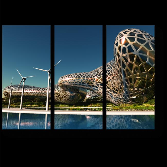 Модульная картина Дом из будущего