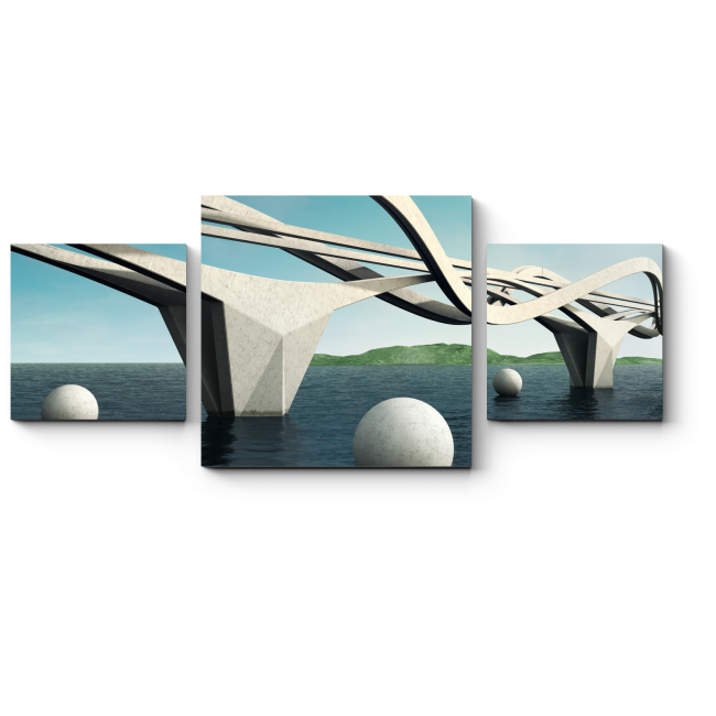 Модульная картина Пластичный мост