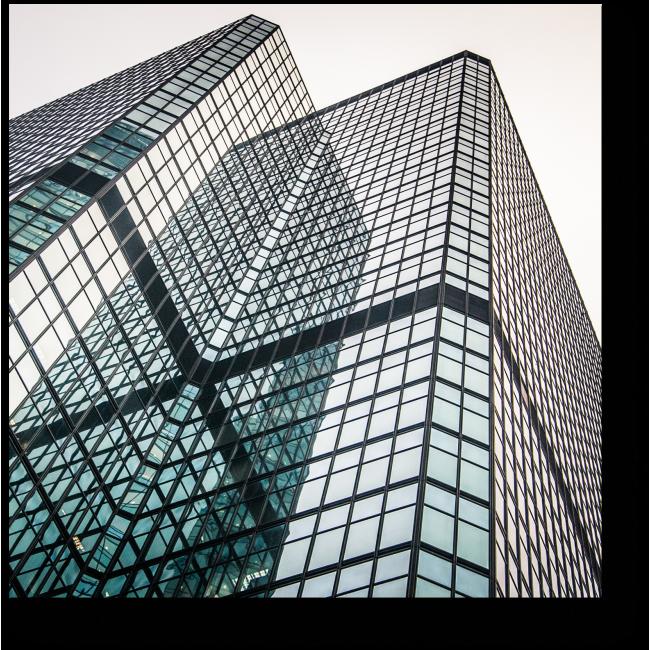 Модульная картина Стеклянный фасад