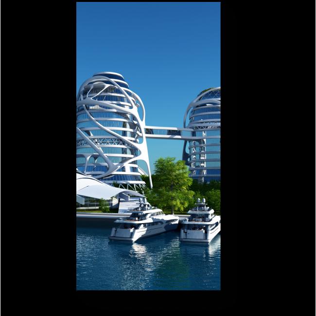 Модульная картина Город будущего