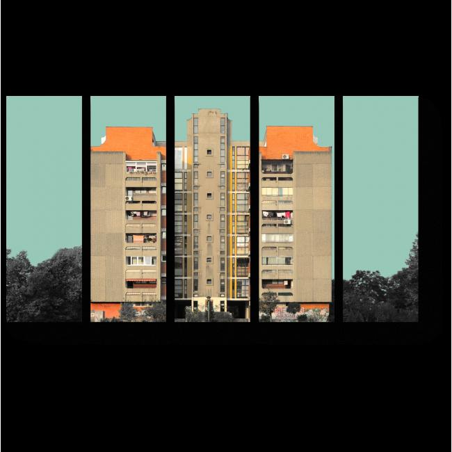 Модульная картина Цветной город