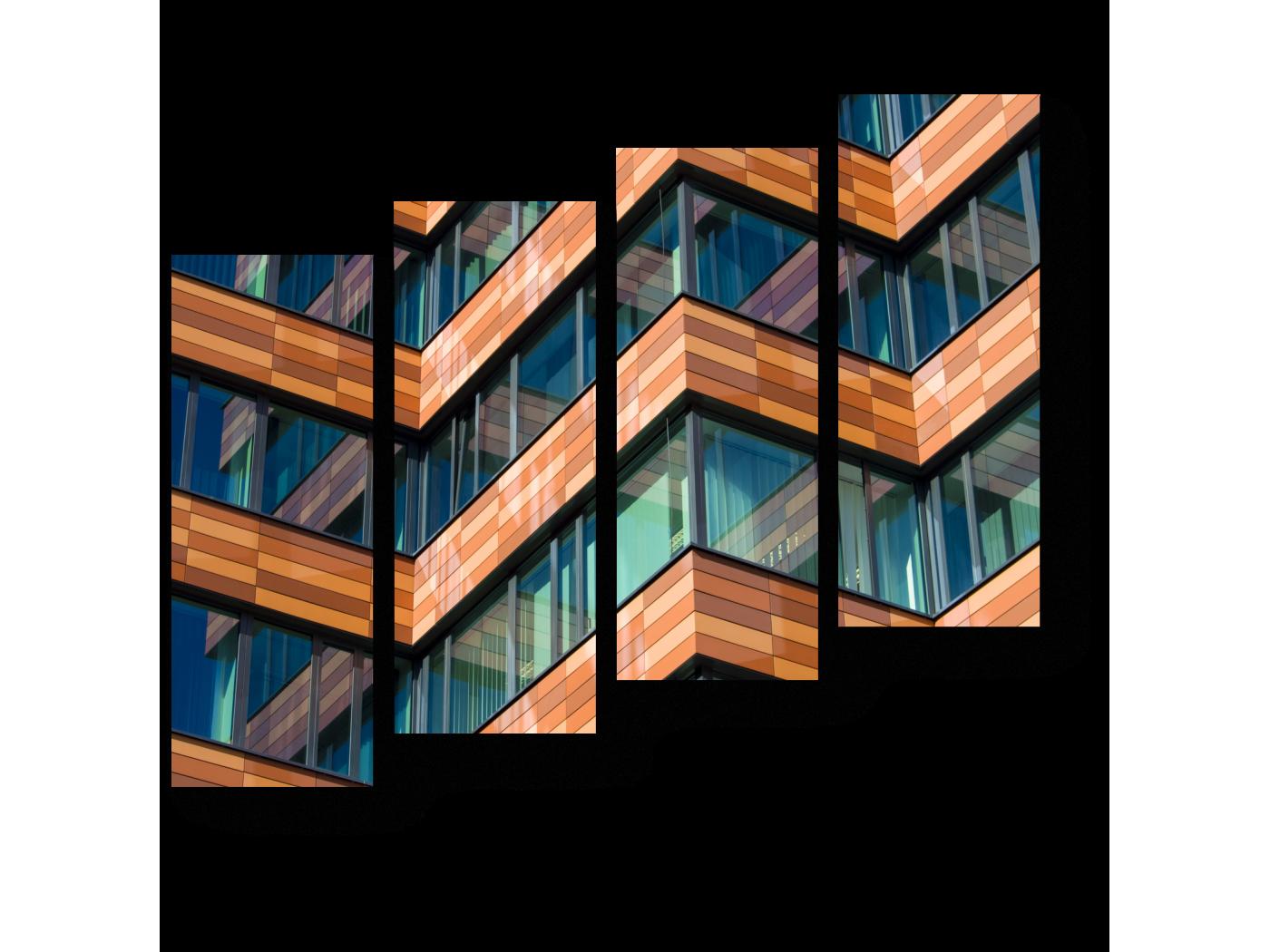 Модульная картина Сталь и стекло (80x69) фото