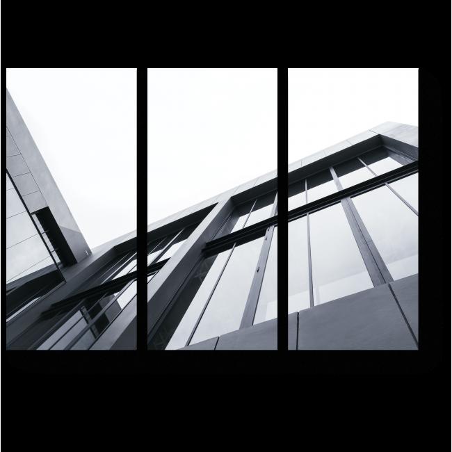 Модульная картина Черно-белая геометрия