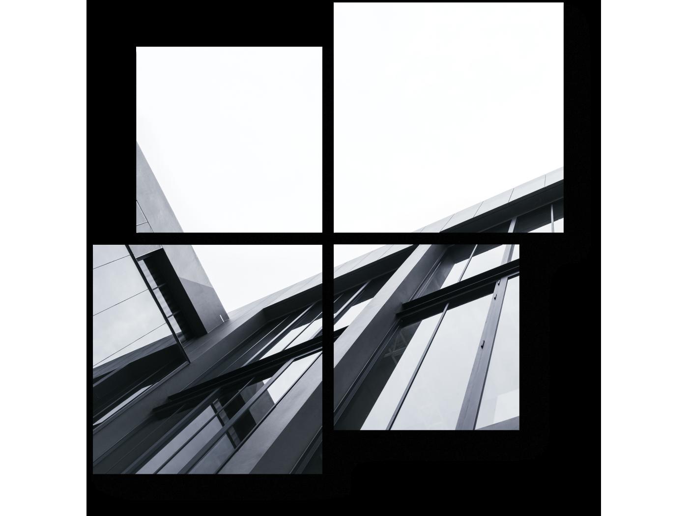 Модульная картина Черно-белая геометрия (50x50) фото