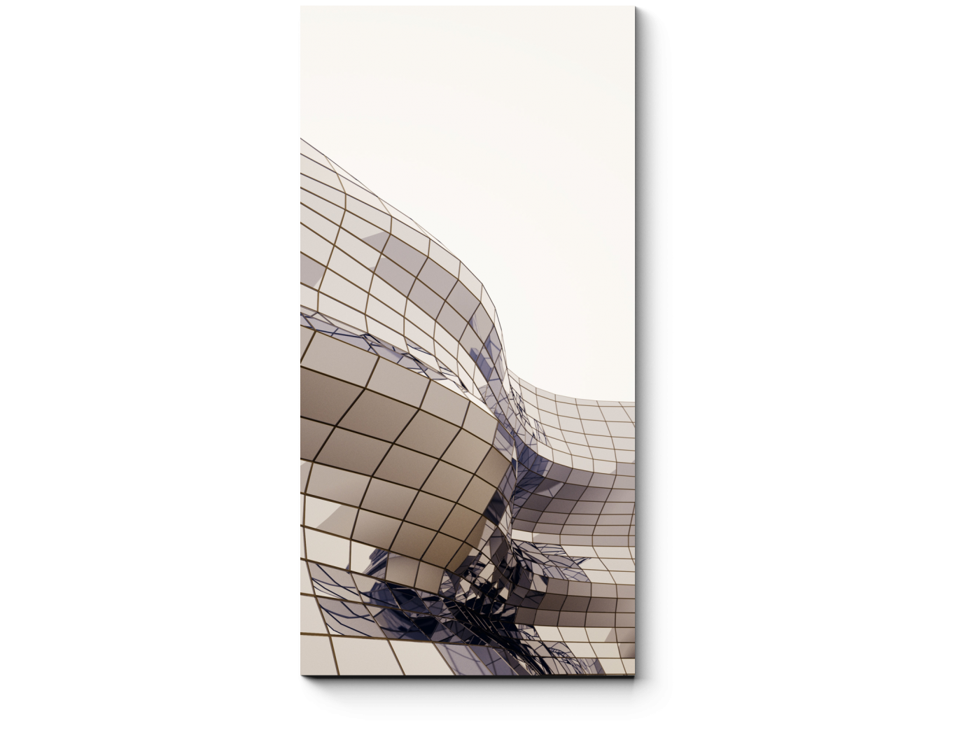 Модульная картина Мягкие формы архитектуры (20x40) фото