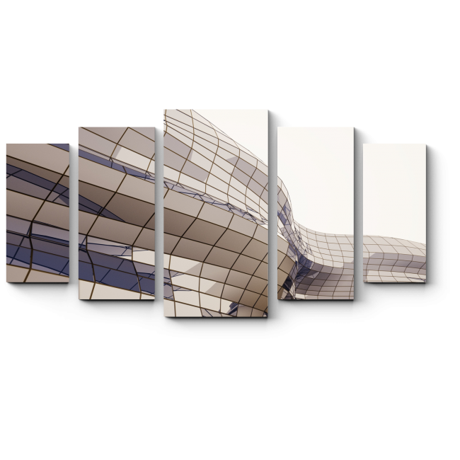 Модульная картина Мягкие формы архитектуры