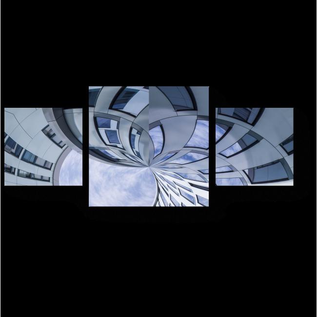 Модульная картина Круговорот здания
